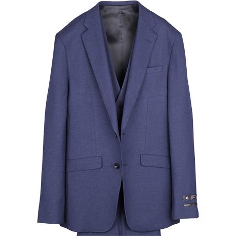4Sスーツはスポーツ素材をウールライクに織り上げた新感覚生地!