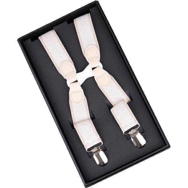 H型サスペンダー クリップ式 2.5cm幅/ベージュ スーツセレクト通販 suit select