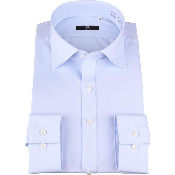 【SKINNY】ワイドカラードレスワイシャツ/ブルー×ソリッド スーツセレクト通販 suit select