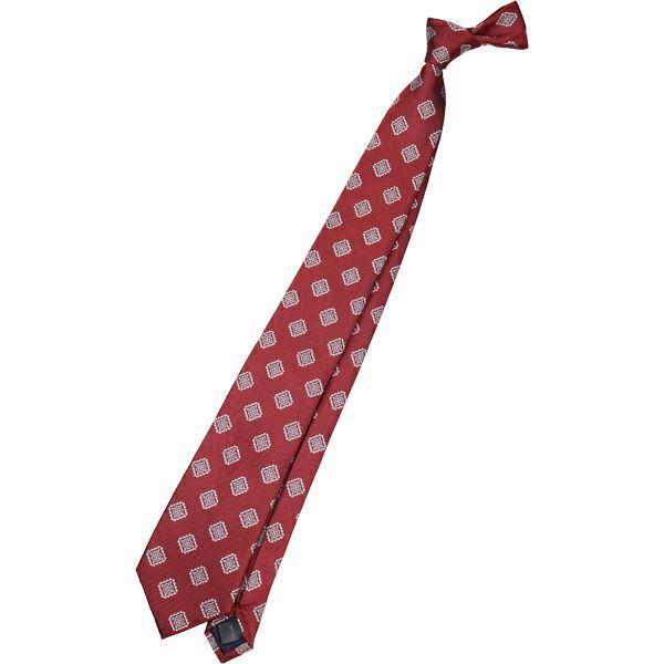 【SL】シルク小紋ネクタイ 8.0cm幅/ワインオレンジ×シルバー スーツセレクト通販 suit select