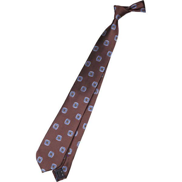 【SL】シルク小紋ネクタイ 8.0cm幅/ブラウン×ブルー スーツセレクト通販 suit select